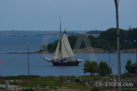 Karlskrona grass boat europe sea.