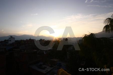 Kathmandu asia nepal south sunset.