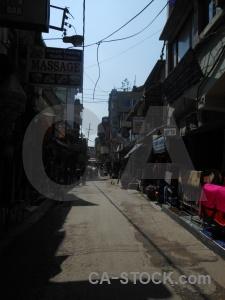 Kathmandu south asia building road person.