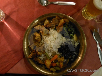 Kathmandu south asia food restaurant plate.