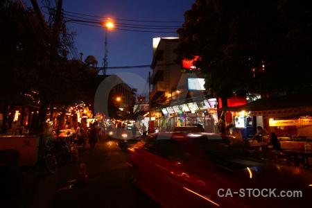 Khaosan khao san road neon bangkok thailand.