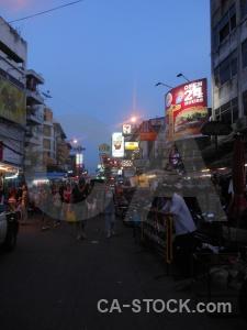 Khaosan road khao san neon thailand asia.