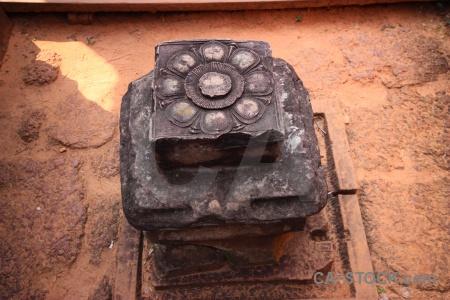Khmer angkor block carving stone.