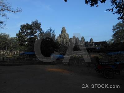 Khmer buddhist stone asia sky.
