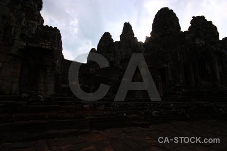 Khmer fungus cambodia ruin stone.