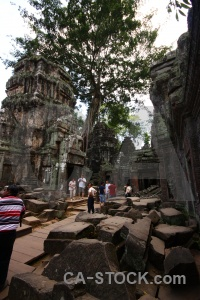 Khmer person angkor buddhist lichen.