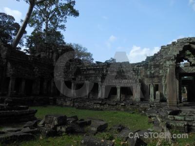 Khmer preah khan cambodia block buddhism.