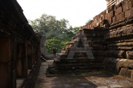 Khmer siem reap block southeast asia ruin.