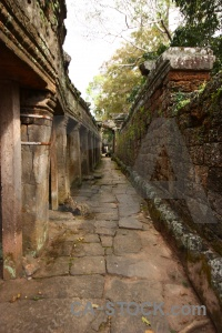 Khmer sky lichen pillar stone.