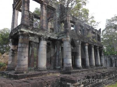 Khmer southeast asia tree cambodia stone.