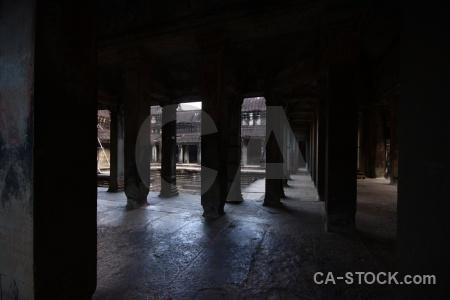 Khmer stone asia block temple.
