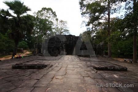 Khmer stone southeast asia tree banteay kdei.