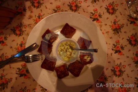 Knife thailand southeast asia plate fried.
