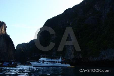 Ko phi leh island boat southeast asia rock.