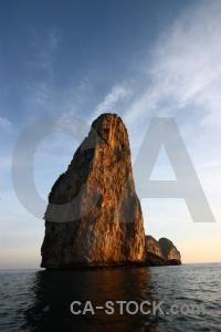 Ko phi ley southeast asia sea limestone island.