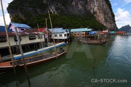 Koh panyee tropical limestone southeast asia phang nga bay.