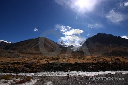 Kora la mountain snow asia tibet.