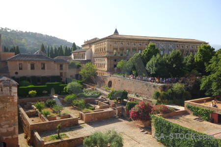 La alhambra de granada building fortress palace historic.
