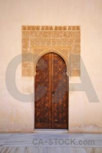 La alhambra de granada building palace fortress orange.