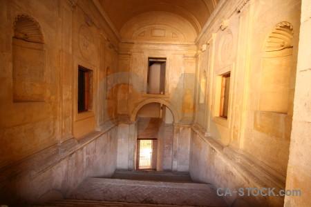 La alhambra de granada building stair palace step.