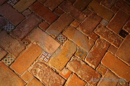 La alhambra de granada palace tile floor brown.