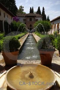 La alhambra de granada water fortress garden palace.