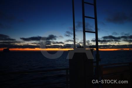 Ladder south pole sky antarctic peninsula sunset.