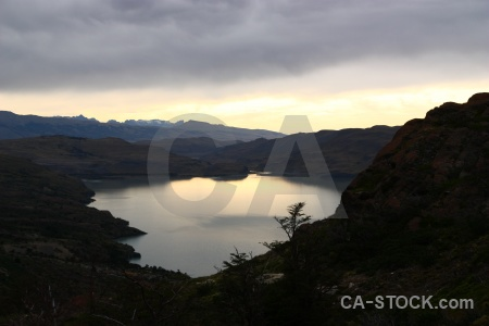 Lago nordenskjold lake landscape patagonia trek.