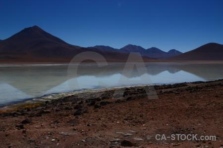 Laguna blanca bolivia landscape water andes.