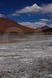Laguna chalviri altitude water bolivia sky.