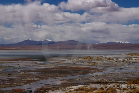 Laguna chalviri cloud lake landscape mountain.