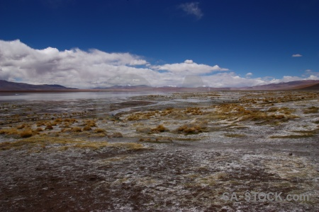 Laguna chalviri water south america mountain altitude.