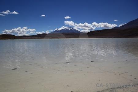 Laguna honda snowcap landscape south america water.