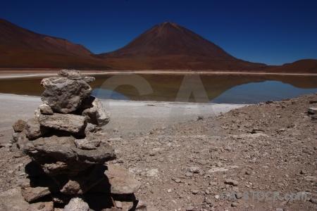Laguna verde altitude licancabur lake landscape.
