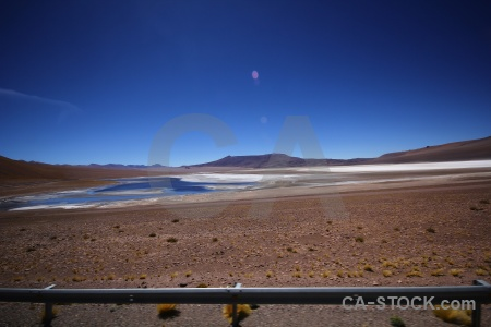 Lake altitude sky chile atacama desert.