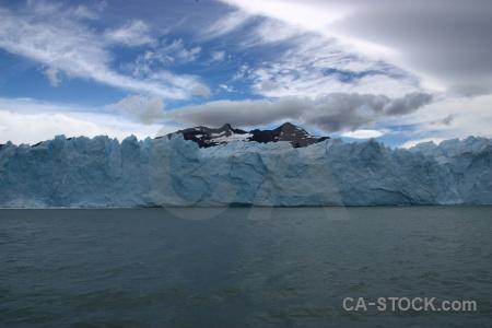 Lake argentino patagonia glacier ice water.