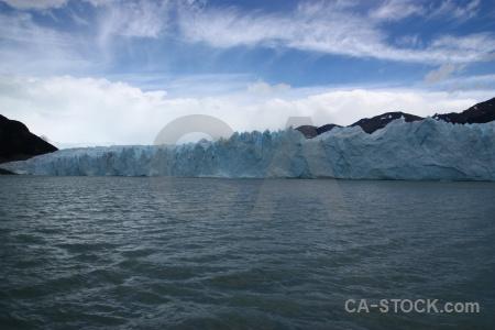 Lake argentino sky glacier ice terminus.