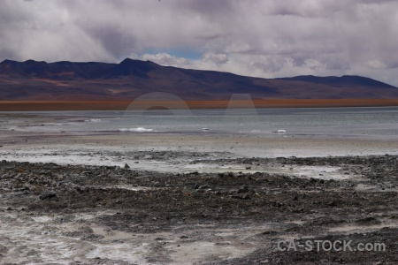 Lake laguna chalviri south america altitude bolivia.