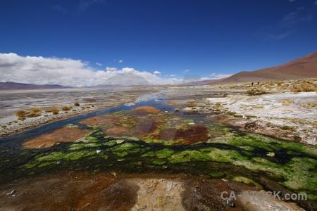 Lake landscape laguna chalviri cloud south america.