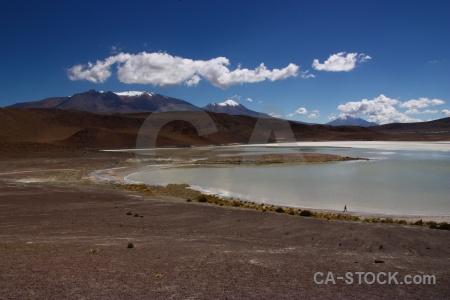 Lake mountain landscape andes altitude.