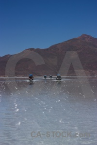 Lake reflection salt flat andes salar de uyuni.