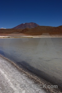 Lake salt lake andes mountain landscape.