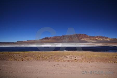 Lake salt lake flat sky desert.