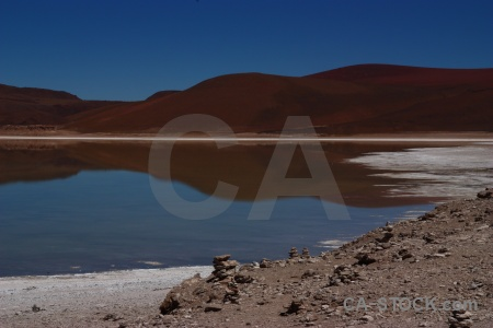Lake south america andes reflection laguna verde.