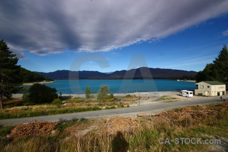Lake tekapo south island new zealand mountain cloud.