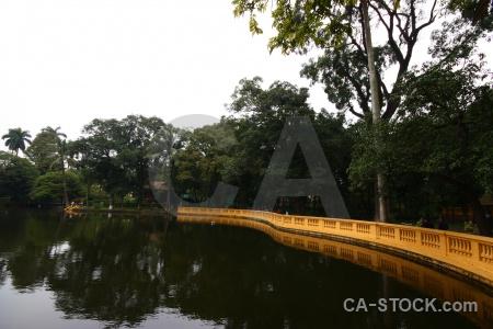 Lake vietnam water presidential palace asia.