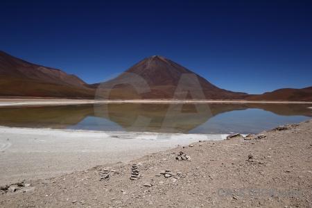 Lake water laguna verde bolivia andes.