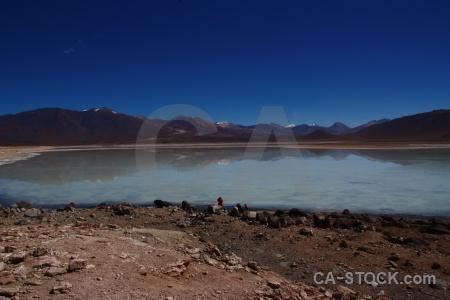 Lake water landscape laguna blanca bolivia.