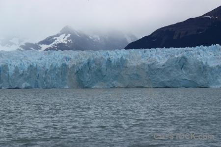 Lake water perito moreno ice south america.