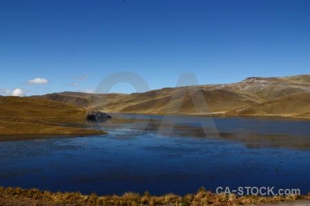 Lake water peru sky andes.